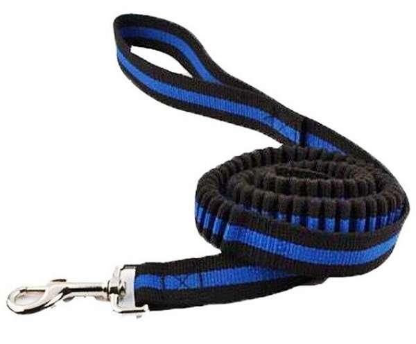 Leine für Katzen Katzenleine Bungee elastisch blau schwarz