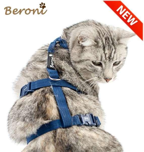 Sicherheitsgeschirr Katze Panikgeschirr blau Katzengeschirr