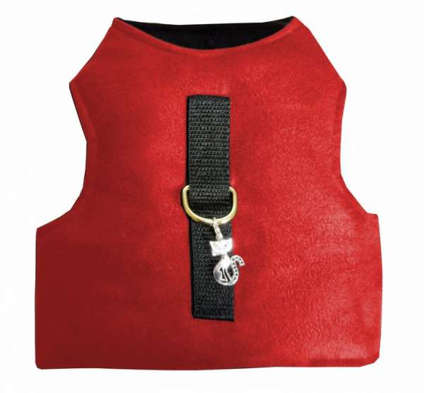Cat Walking Kitty Jacket classic red kleine + große Katzen Made in Germany